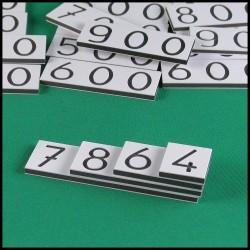 Cartes des nombres - Montessori - couverture