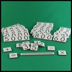 Grandes cartes des nombres - Montessori - ensemble