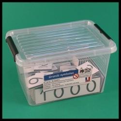 Grandes cartes des nombres - Montessori - boite