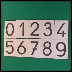 Chiffres rugueux - Montessori - ensemble