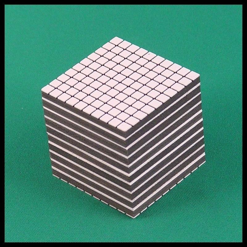 Cube de 1000 - Mathématique Montessori