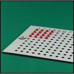 Table de multiplication - Mathématique Montessori - avec billes