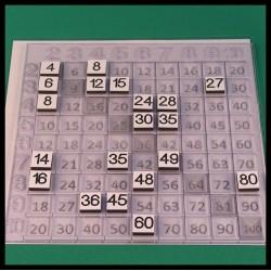 Table de Pythagore - Mathématique Montessori - utilisation avec plaque aide