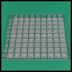 Table de Pythagore - Mathématique Montessori - plaque support